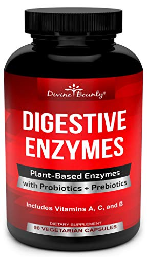Digestive Enzymes with Probiotics & Prebiotics - Digestive Enzyme Supplements w Lipase, Amylase, Bromelain - Support a Healthy Digestive Tract for Men and Women – 90 Vegetarian Capsules