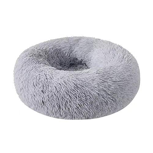 Flauschige beruhigende Hundebett Plüsch Donut Haustier Bett Runde orthopädische Schlafsofa Zwinger Katze Welpen Schlafsofa (XXXL)