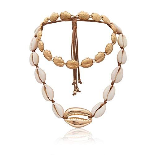 Empty verhaalde schelpen halskettingen mode choker halskettingen voor vrouwen schelpen halskettingen zomersieraden