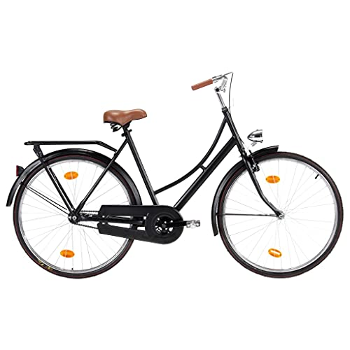 VIENDADPOW Bicicleta Holandesa Rueda 28 Pulgadas Cuadro de Mujer 57 cm