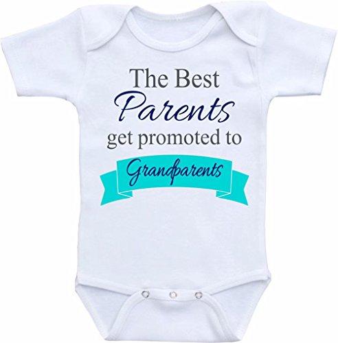 Promini Funny The Best Parents get Promoted to Grandparents Baby Body Lindo Bebé de una sola pieza Body Bebé Mameluco El mejor regalo para bebé