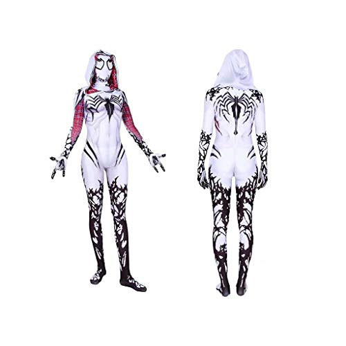 Superhero Gwen Stacy Venom Costume Mask Cosplay Spider Zentai Jumpsuit Bodysuit Adults Kids