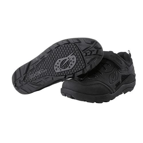 O'Neal   Scarpa da Bici   MTB Downhill Freeride   Alta aderenza, Sistema di Allacciatura Rapida per Una vestibilità Perfetta, Ventilazione in Rete   Traverse Flat Shoe   Adulto   Nero   Taglia 45