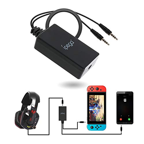 Audio Converter for Nintendo Switch, 2 in 1 Audio Chat Adapter for Nintendo Switch - Support Voice Chat with Your Headphone