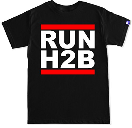 FTD Apparel Men's Run H2B Motor T Shirt - XXL Black