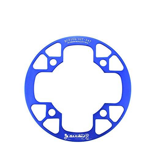 MHCYKJ Protector de radios de rueda de bicicleta, protector de plato de bicicleta de montaña, BCD 104 mm rueda de bicicleta rayó protector, para 32 ~ 34T 36 ~ 38T 40 ~ 42T, azul, 40T a 42T