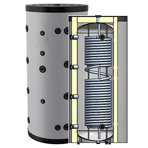 Hygienespeicher, Boiler mit Edelstahlwellrohr zur legionellenfreien Trinkwasseraufbereitung ohne zusätzlichen Wärmetauscher, Pufferspeicher, Trinkwasserspeicher 500 Liter