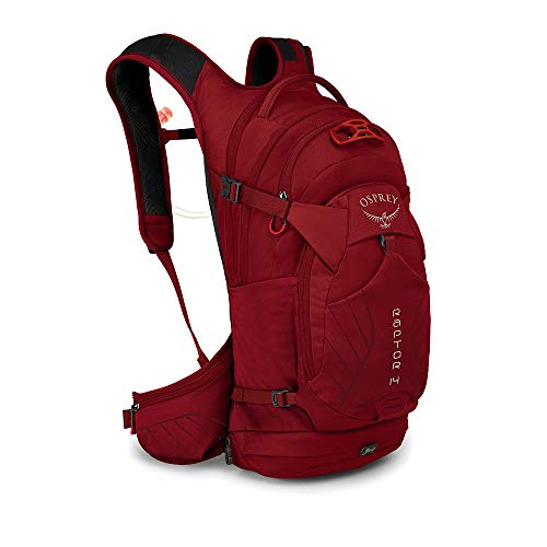 Osprey Raptor 14, Hydration Pack Uomo, Wildfire Red, Taglia Unica