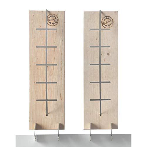 acerto 31838 Flammlachsbrett aus Birke - 3 Stufen einstellbar - Lachs bis 1,5kg - Original Flamm-Lachsbrett, Lachsflammbrett für echten Feuerlachs (2)