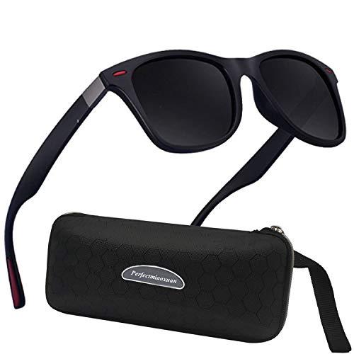 Polarisierte Sonnenbrille Herren Damen Retro Sonnenbrille Männlich/Sport im Freien Golf Radfahren Angeln Wandern Eyewear Sonnenbrille