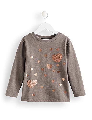 RED WAGON Amazon-Marke: RED WAGON Mädchen T-Shirt Grey Marl Sweat Dress, Grau (Grey Marl), 104, Label:4 Years
