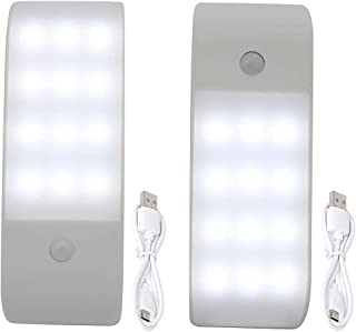 Gluckluz Motion Sensor Light Closet Night Light USB Rechargeable Auto On/Off Lights with Magnetic Strip for Home Cabinet S...