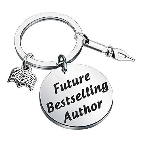 Author Gift Writer Keychain Future Bestselling Author Keychain Writer Gift...