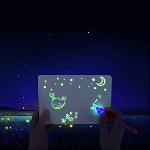 Light Up Drawing Board for Kids,Luminous Graffiti Board,Fluorescent Draw With Light Writing Board,Doodle Board Drawing Tablet for Boys Girls