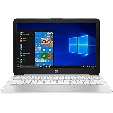 HP Stream 11.6 inch HD Laptop, Intel Celeron N4000, 4 GB RAM, 64 GB eMMC, Bluetooth, HDMI, Webcam, Windows 10, Diamond…
