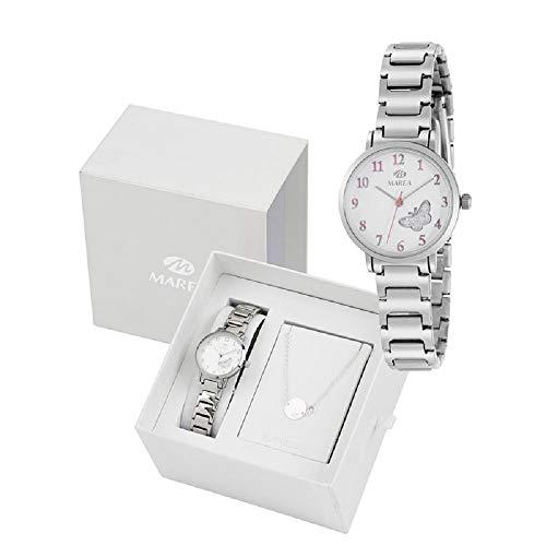 Conjunto Reloj Marea Niña B41248/1 Pulsera Plata de Ley