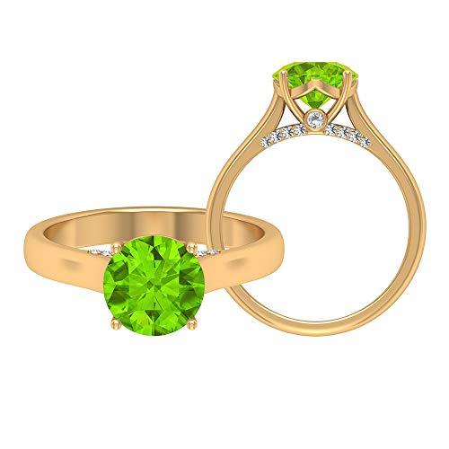 Rosec Jewels 14 quilates oro amarillo Round Brilliant Moissanite