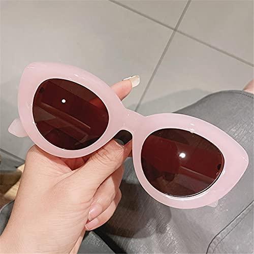 ShSnnwrl Gafas Sol De Hombre Mujer Polarizadas Sunglasses Gafas De Sol De Moda De Ojo De Gato para Mujer, Diseñador De Marca De Lujo Retro