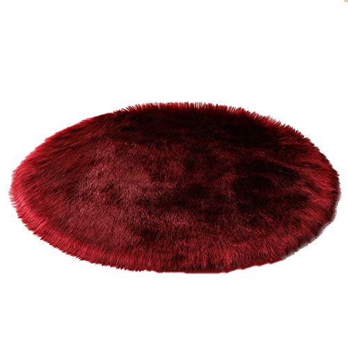 Felpa Redondo Estar Alfombra suave y cómodo alfombra de pelo largo lavable Sedoso al tacto Area Alfombras Varias Dimensiones para Dormitorios Sala Habitaciones Infantiles etcC-diameter~150cm(59inch)