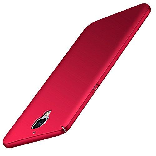 GOGODOG OnePlus 3 / 3T Hülle Vollständige Abdeckung Ultra dünn Matte Anti-Rutsch Kratzen Beständig für One Plus 3 / 3T (Rot)