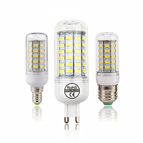 GHC LED Bombillas Lámpara de luz LED Lámpara de maíz E27 E14 G9 SMD 5730 Lampada Bombillas LED 220V Candle Luz Luz 24 36 48 56 69 72 Leds Luces (Color : G9, Color emisivo : Warm White)