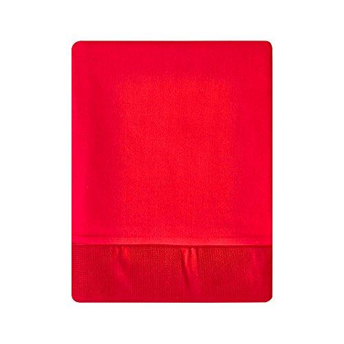 Essix - Drap Plat Regain Satin de coton Cerise 240 x 300 cm