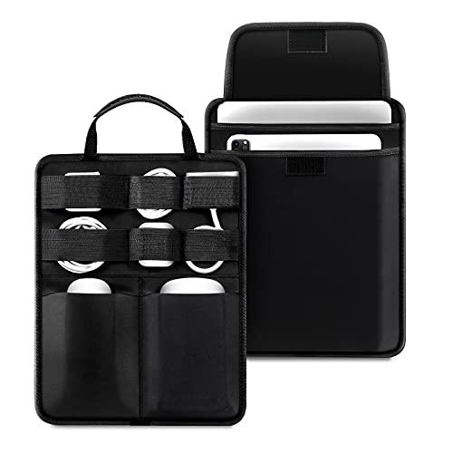 "SITHON Organizador de Electrónica para Cargador de Cables, Disco Duro, Banco de Energía, Accesorios Funda para 13,3"" MacBook Air & Pro M1, iPad Air 9,7-11 Pulgadas, Surface Pro X/7/6/5/4,"