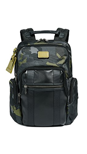 """Tumi Alpha Bravo - Nellis Laptop Backpack 15"""" Zaino Casual, 40 cm, 22.28 liters, Multicolore (Green Camo)"""