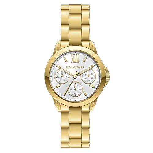 Michael Kors Bradshaw - chronograaf quartzhorloge met goudkleurige roestvrijstalen band voor dames MK6882