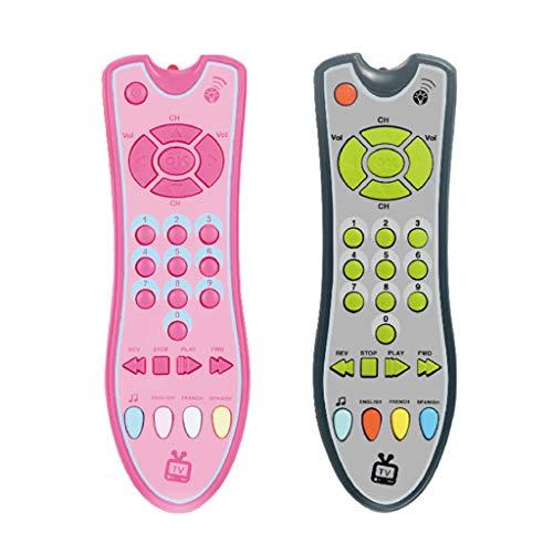 Vivianu Toy - Teléfono móvil con mando a distancia y números eléctricos, juguete educativo para niños