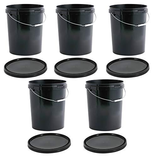 OIPPS Packung mit 5 x 25 Liter Eimer mit Deckeln