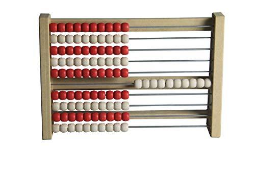 WISSNER® aktiv lernen - 100s Abacus rojo/blanco - RE-Wood®