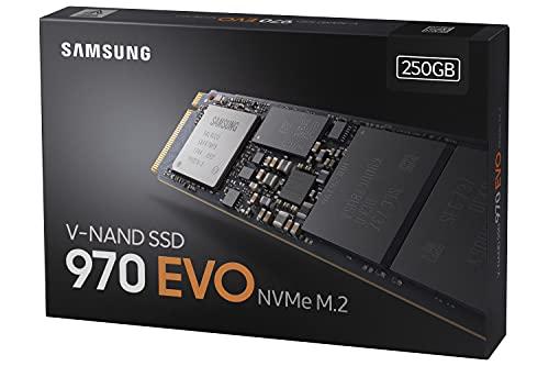 Samsung MZ-V7E250BW 970 EVO 250 GB NVMe M.2 Interne SSD Schwarz