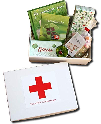 Erste Hilfe Glücksbringer | Geschenkbox Glück | Geschenke Glück | GlücksgeschenkeGlücks Schokolade | Glückwunsch Geschenkidee | Glücksbox
