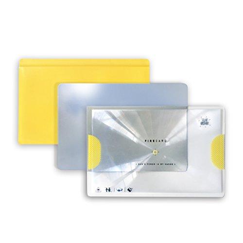 Solar Brother, Adventure Kit – Solar-Feuerzeug und Brandmalkolben – Morscode, Feueranzünder + reflektierender Spiegel + Schutztasche gelb