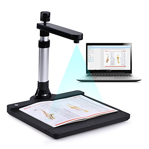 Best Price QWERTOUY A3 Adjustable HD High Speed Book Image Document Camera Scanner Dual Lens LED Lig...