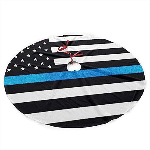 Winter-South dunne lijn blauw Amerikaanse vlag kerstboom rok tapijt decoratie party kerstmis piano kerstfeest