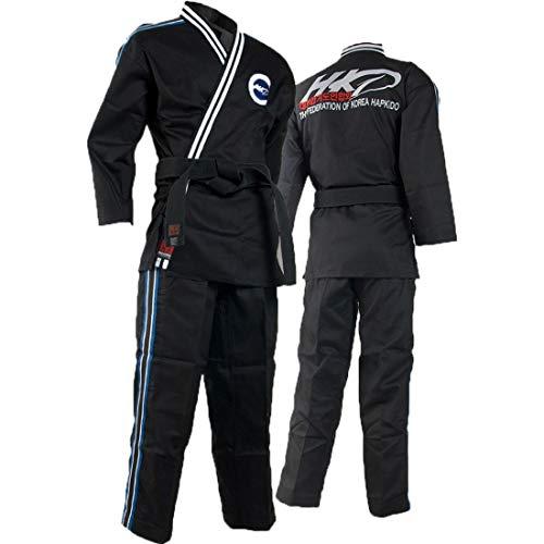 Mooto Uniform des Hapkido-Bundes von Korea für Mann 180 (US4) (5.57-5.90ft oder 170-180cm) Schwarz