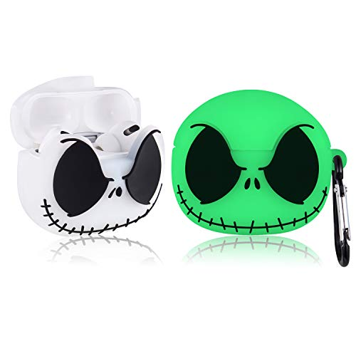 STSNano Cute Case for AirPod Pro 3rd, Cartoon Character Design Funny Kawaii Fun Air Pods 3 Silicone Cover, Unique 3D for Girls Boys Women Kids Cases for AirPods Pro (Luminous Jake Skull)