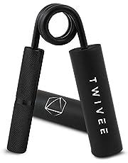 TWIVEE - Vingerhalter voor maximale grip – onderarmtrainer met gripkussen en tas – Gripper van gehard staal en aluminium – handtrainer – handspiertrainer