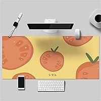 可愛い アニメ 少女 多機能 防水 レザーマウスパッド 大型 キーボード ゲーミング オフィスコンピュータテーブルマット(600 x 300 x 2 mm,1)