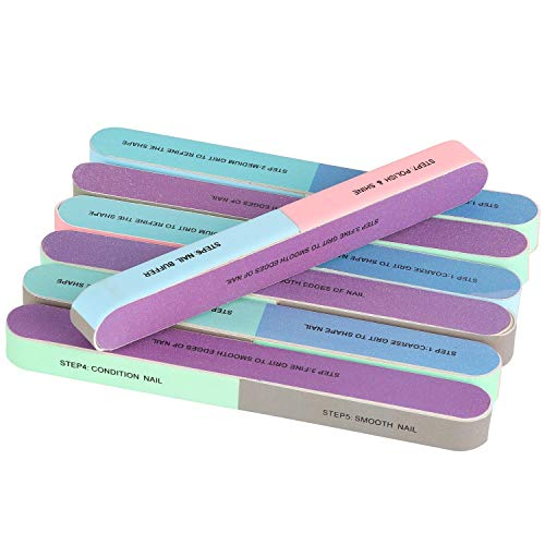 BTYMS 12 Packs 7 Way Nail File and Buffer