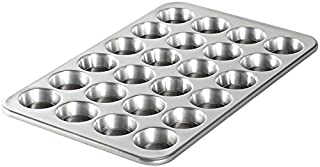 Nordic Ware Natural Aluminum Commercial Petite Muffin Pan, 24 Cup