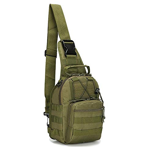 Rootless Tactical MOLLE Military Sling Daypack - Small Shoulder Messenger Bag