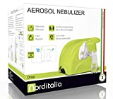 NORDITALIA Aerosol Made in Italy, Veloce Silenzioso, Bambini e Adulti, Tutti gli Accessori Inclusi, Terapia Mirata, 2 Velocità, Compressore a Pistone, Inalatore Aerosol per Terapia