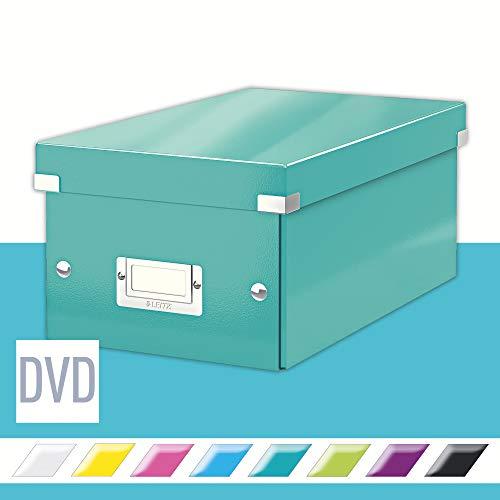 Leitz Click e Store Contenitore per DVD, Ice Blu