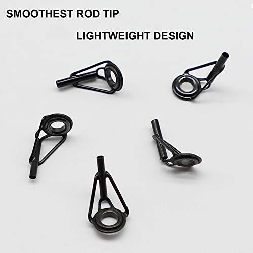 THKFISH Fishing Rod Repair Kit Rod Tip Repair Kit Stainless Steel Ceramic Ring Guide 6Sizes 30pcs Small Style