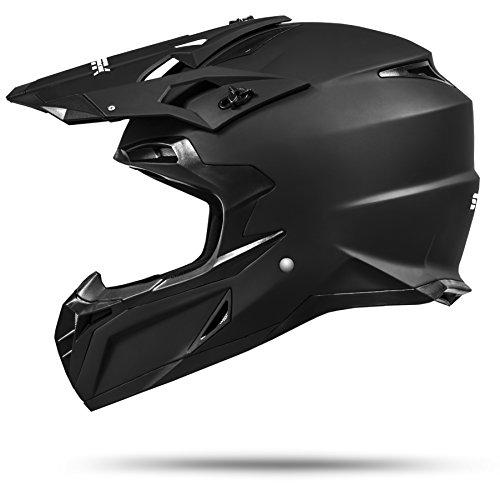 ATO Moto MX Mexico Schwarz matt Größe L 59-60cm Enduro Helm mit neuster Sicherheitsnorm ECE 2205