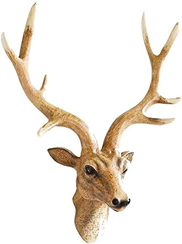 Simulación de la cabeza de la cabeza de la cabeza, la decoración de la pared de la cabeza, marrón de la pared de la cabeza de la cabeza, la decoración de la pared de la pared de la cabeza del animal,