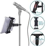 Mikrofon-Bodenstativ Mikrofonständer in hochwertiger Ausführung mit längenverstellbarem...